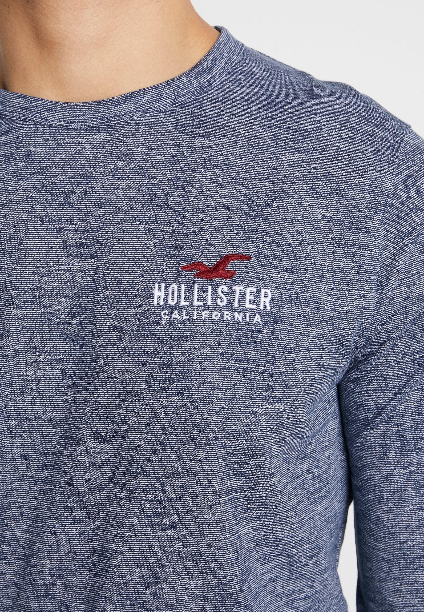 Hollister Co. ICONIC TECH LOGO - Bluzka z długim rękawem - navy