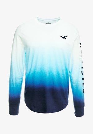 OMBRE LOGO  - T-shirt à manches longues - white/navy