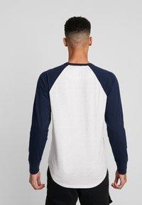 Hollister Co. - TECH LOGO - Long sleeved top - grey/navy - 2