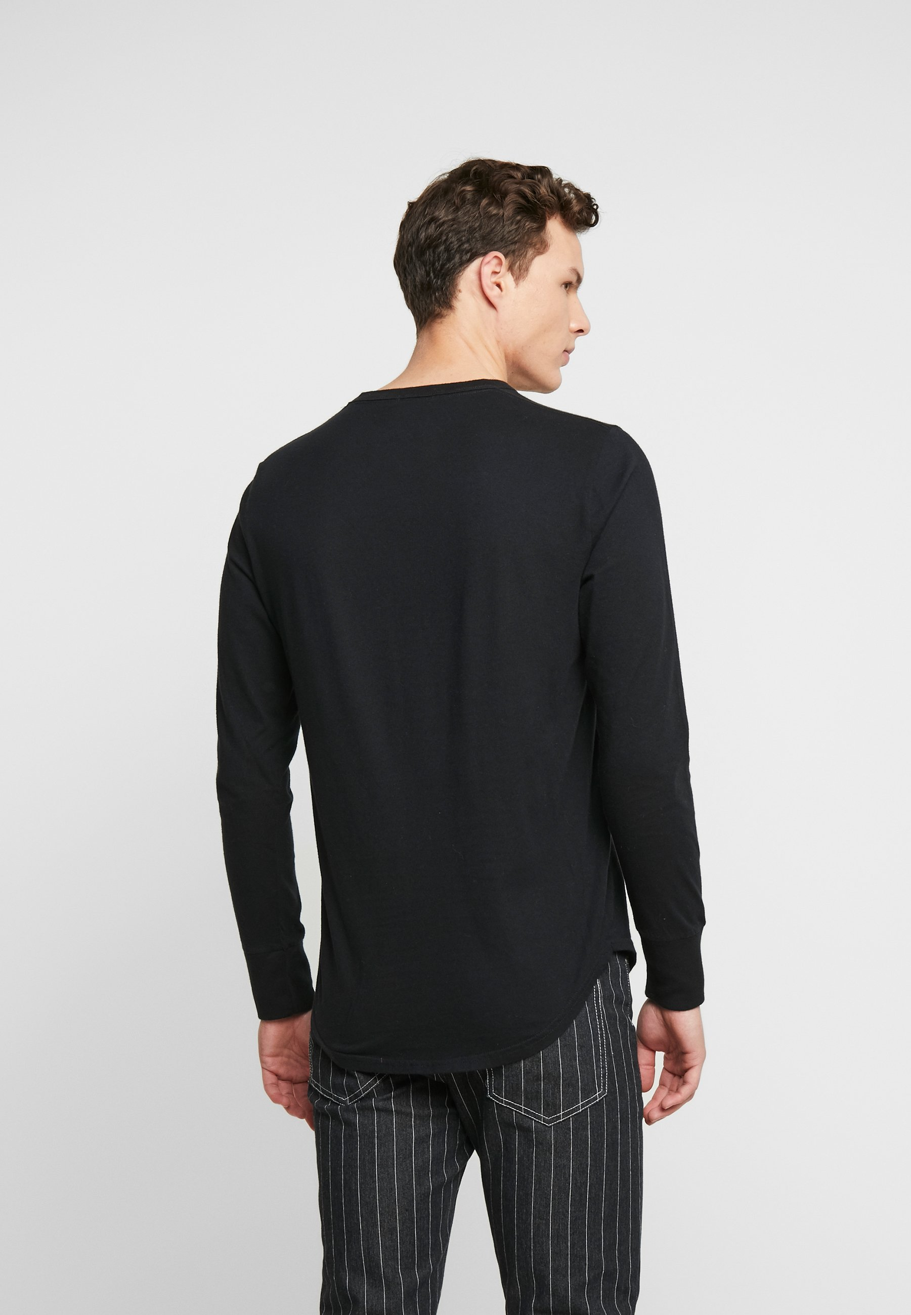 Hollister Co. TECH LOGO - Maglietta a manica lunga - black