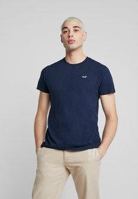 Hollister Co. - CREW - T-shirt - bas - navy - 0