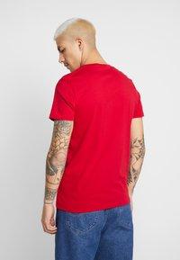 Hollister Co. - SEASONAL CREW 3 PACK - T-shirt basic - red/white/mottled bordeaux - 2