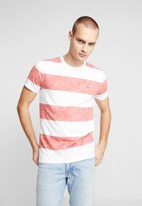 Hollister Co. - THICK STRIPE 3 PACK - T-shirt imprimé - navy/red/olive - 2