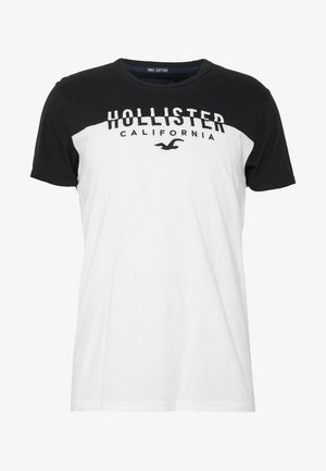 CORE TECH SMALL SCALE BLOCK  - Print T-shirt - white/black splicing