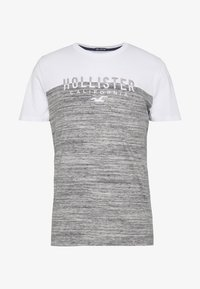 Hollister Co. - CORE TECH SMALL SCALE BLOCK  - T-shirt imprimé - grey splicing - 5
