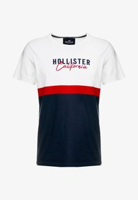 Hollister Co. - ICONIC CORE TECH LOGO  - Print T-shirt - white/red/navy