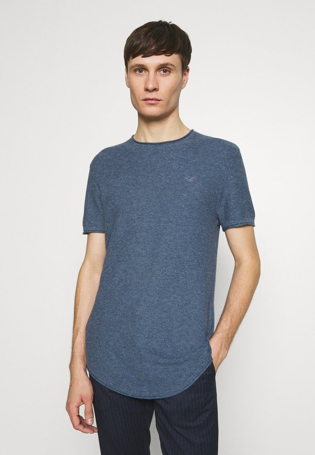 SOLID CREW - T-shirt con stampa - navy