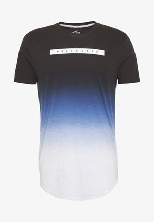 OMBRE PRINT LOGO  - Print T-shirt - navy to white ombre