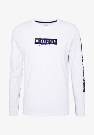 LARGE SCALE TECH LOGO  - Long sleeved top - white