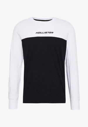COLORBLOCK SPORT LOGO - Top sdlouhým rukávem - white/black