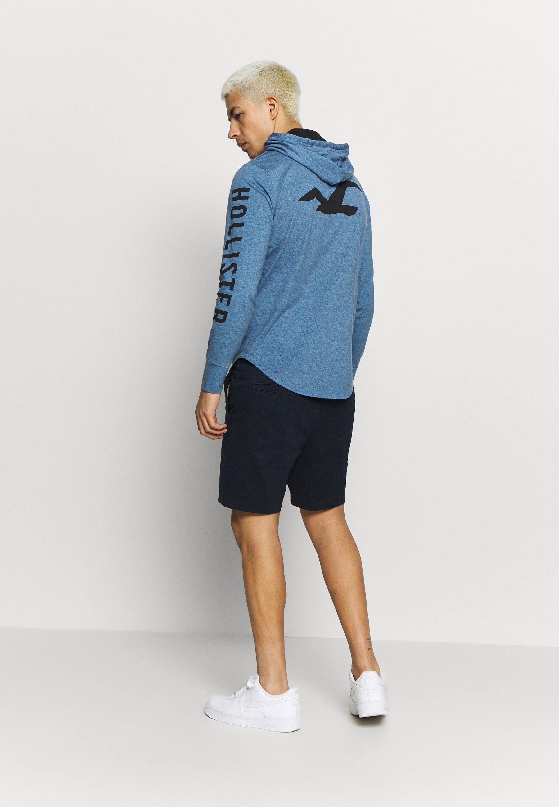 Hollister Co. ICONIC LOGO HOOD - Bluza z kapturem - blue