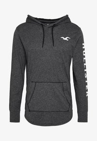 Hollister Co. - ICONIC LOGO HOOD  - Jersey con capucha - black - 5