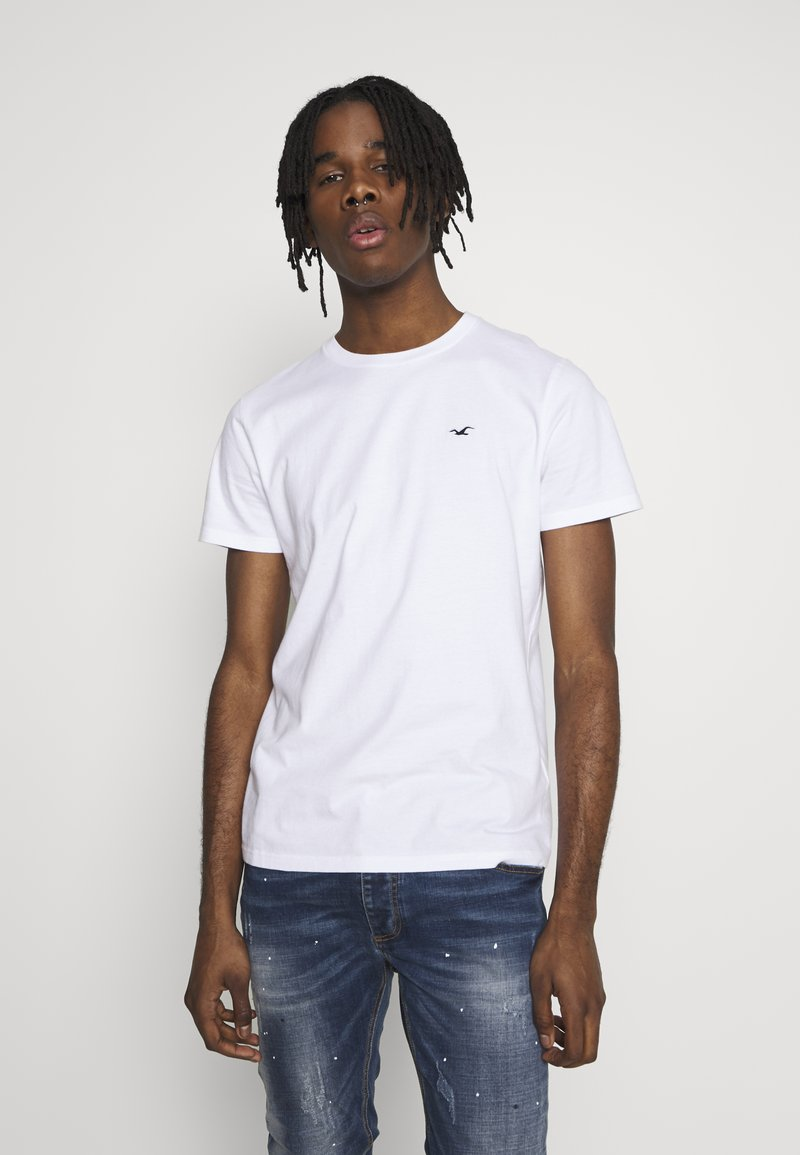 Hollister Co. - CREW SOLIDS - Camiseta básica - white