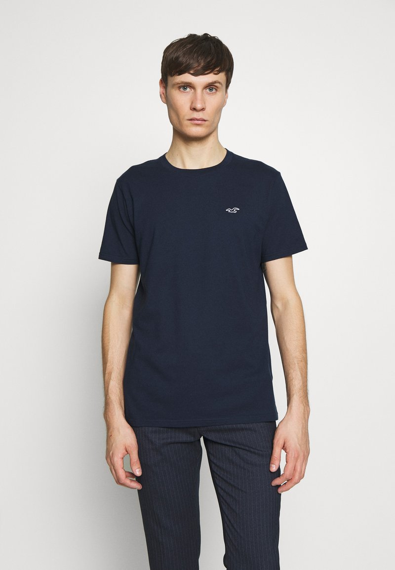 Hollister Co. - CREW SOLIDS - Camiseta básica - navy