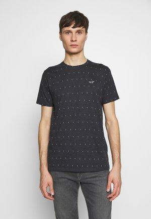 CREW YOKE BLOCK - Camiseta estampada - black