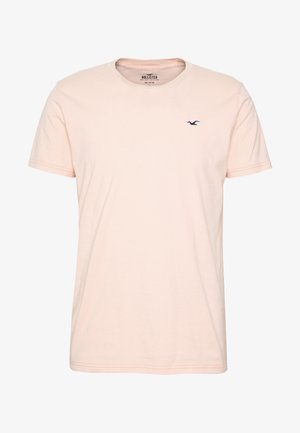 CREW SPACE DYE - T-shirt basique - peach