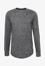 WAFFLE TEXTURE - Pullover - black