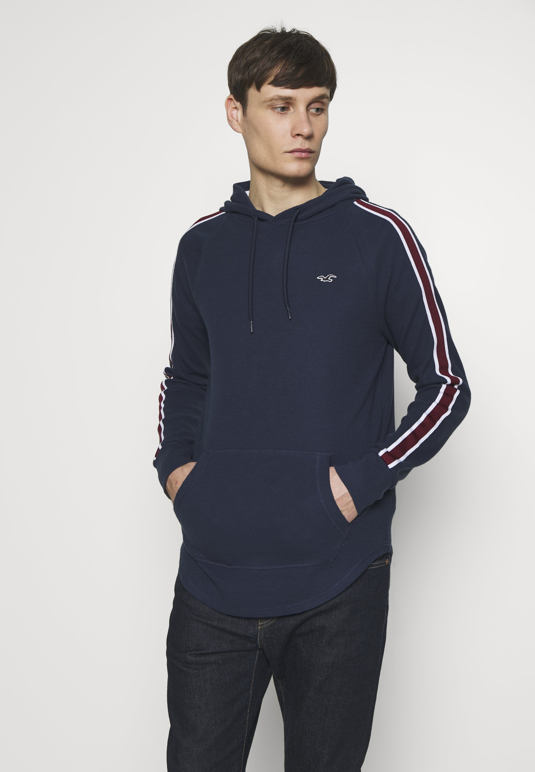 Hollister Co. TAPED HOODS - Bluza z kapturem - navy