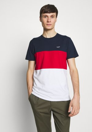 BLOCKING CREW - T-shirt imprimé - red/white/blue