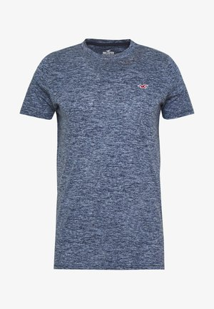 MUSCLE FIT CREW  - Print T-shirt - navy