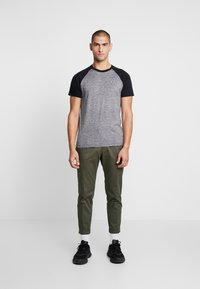 Hollister Co. - CREW RAGLAN  - T-shirt imprimé - grey - 1