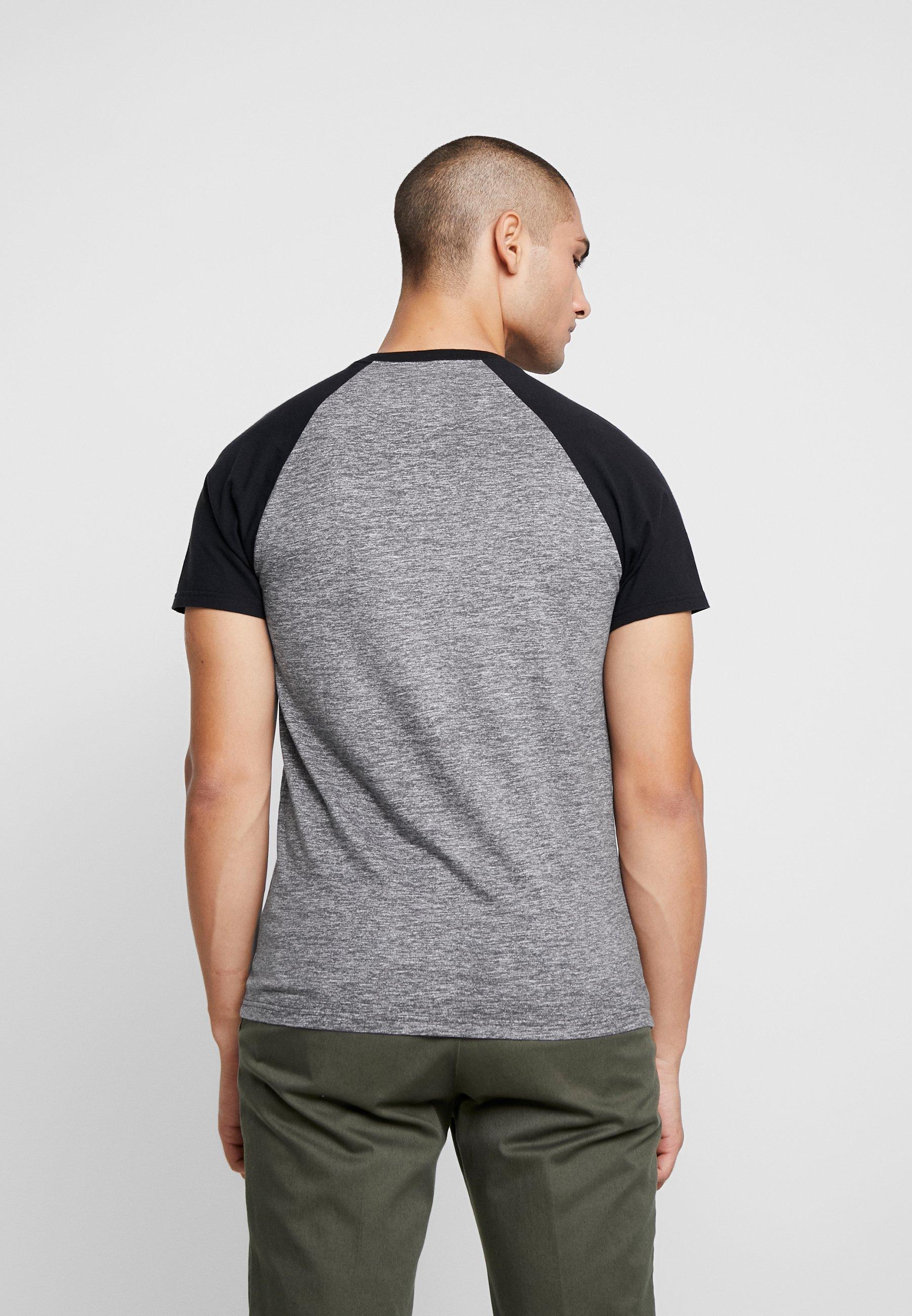 Hollister Co. Crew Raglan - T-shirt Print Grey