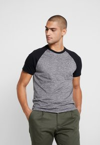 Hollister Co. - CREW RAGLAN  - T-shirt imprimé - grey - 0