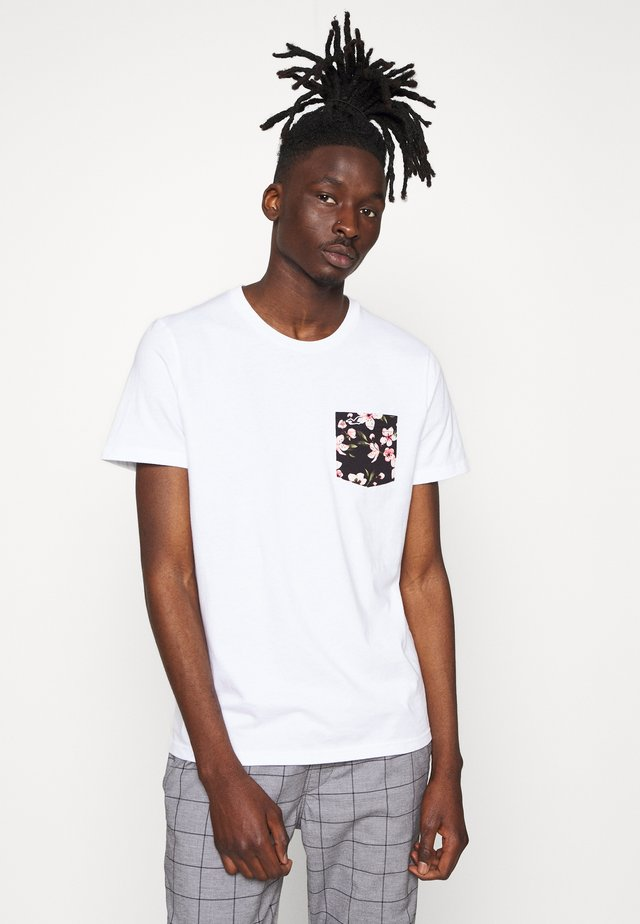 FLORAL POCKET ASIA  - T-shirt con stampa - white