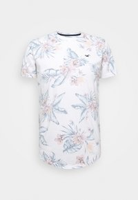 Hollister Co. - FLORAL SMALL SCALE - Camiseta estampada - white - 0