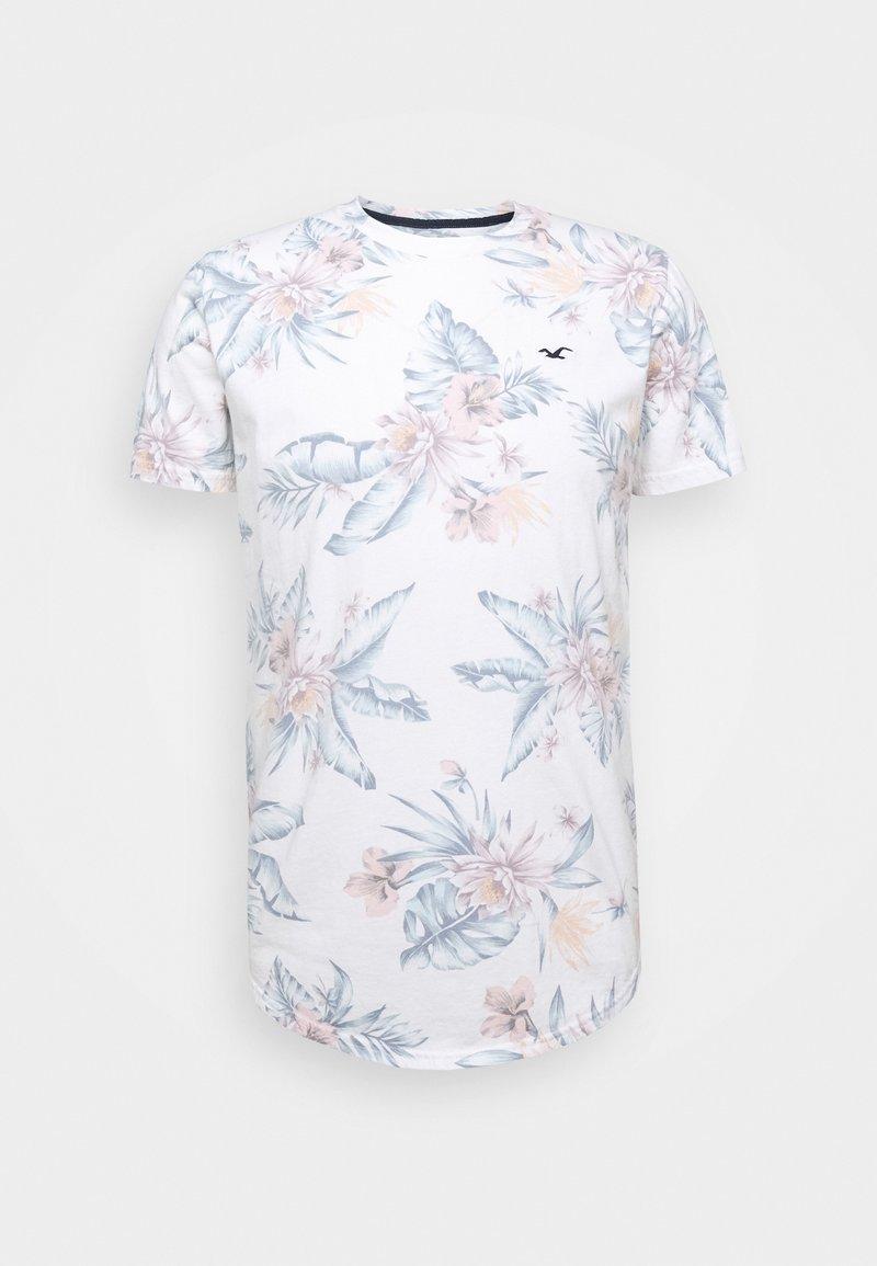 Hollister Co. - FLORAL SMALL SCALE - Camiseta estampada - white