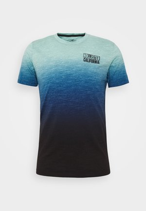 OMBRE LOGO - T-shirt con stampa - teal to navy ombre