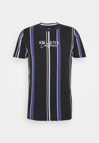 Hollister Co. - STRIPE LOGO - T-shirt con stampa - black - 0