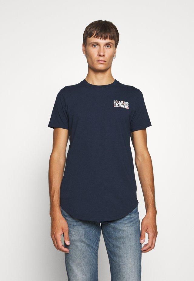 FLORAL LOGO - Camiseta estampada - navy solid