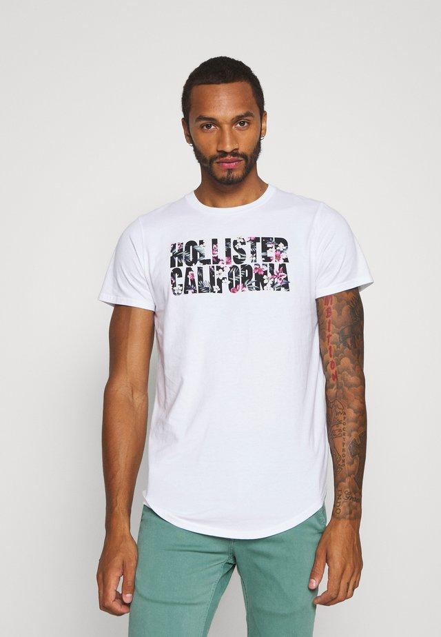FLORAL PRINT LOGO - Camiseta estampada - white solid