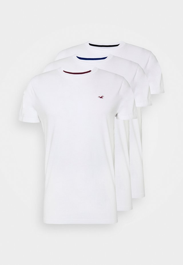 CREW 3 PACK - T-shirt basic - white