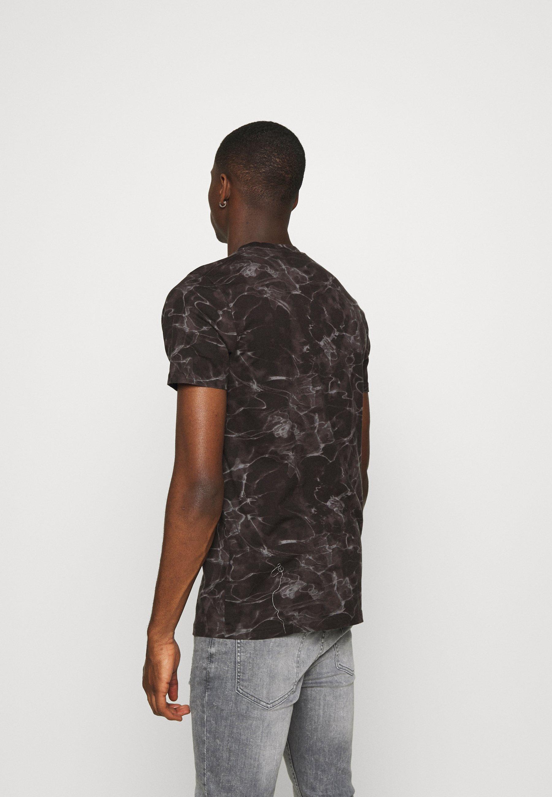 Hollister Co. FLORAL SMALL SCALE T shirt imprimé black