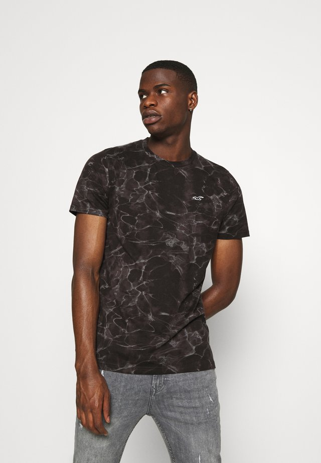 T-Shirt print - black wash