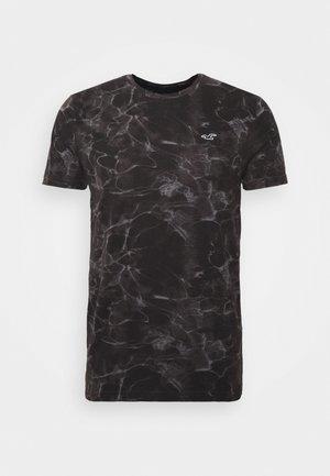 Print T-shirt - black wash