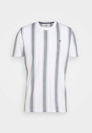 MENSWEAR CREW - Print T-shirt - white/navy
