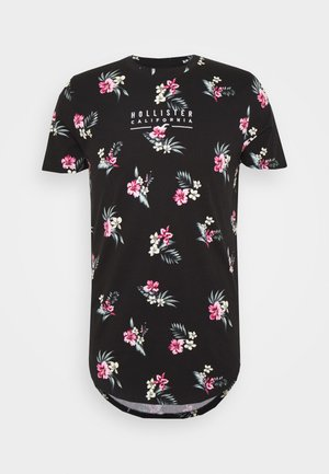 FLORAL SMALL SCALE - T-shirt z nadrukiem - black