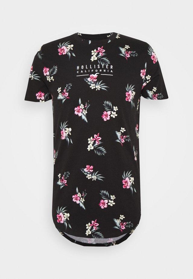FLORAL SMALL SCALE - Camiseta estampada - black