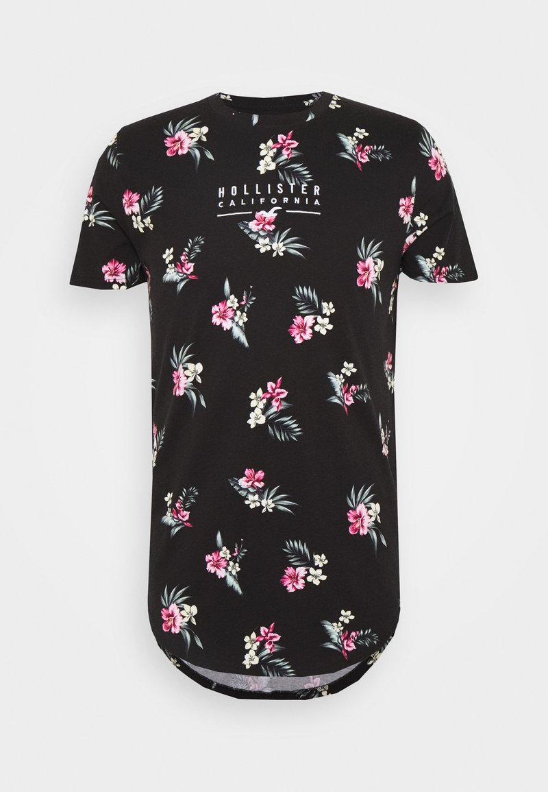 Hollister Co. - FLORAL SMALL SCALE - Printtipaita - black