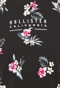 Hollister Co. - FLORAL SMALL SCALE - Printtipaita - black - 2