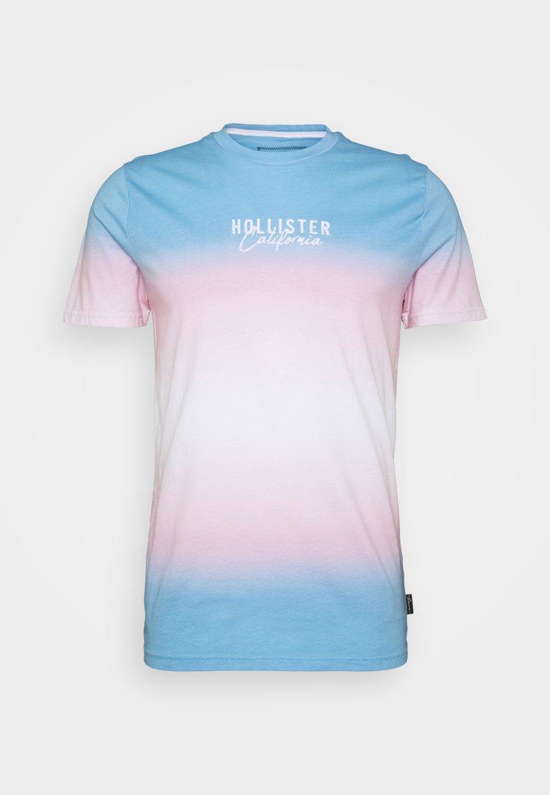Hollister Co. - PRIDE LOGO TEE  - Camiseta estampada - blue/pink /white