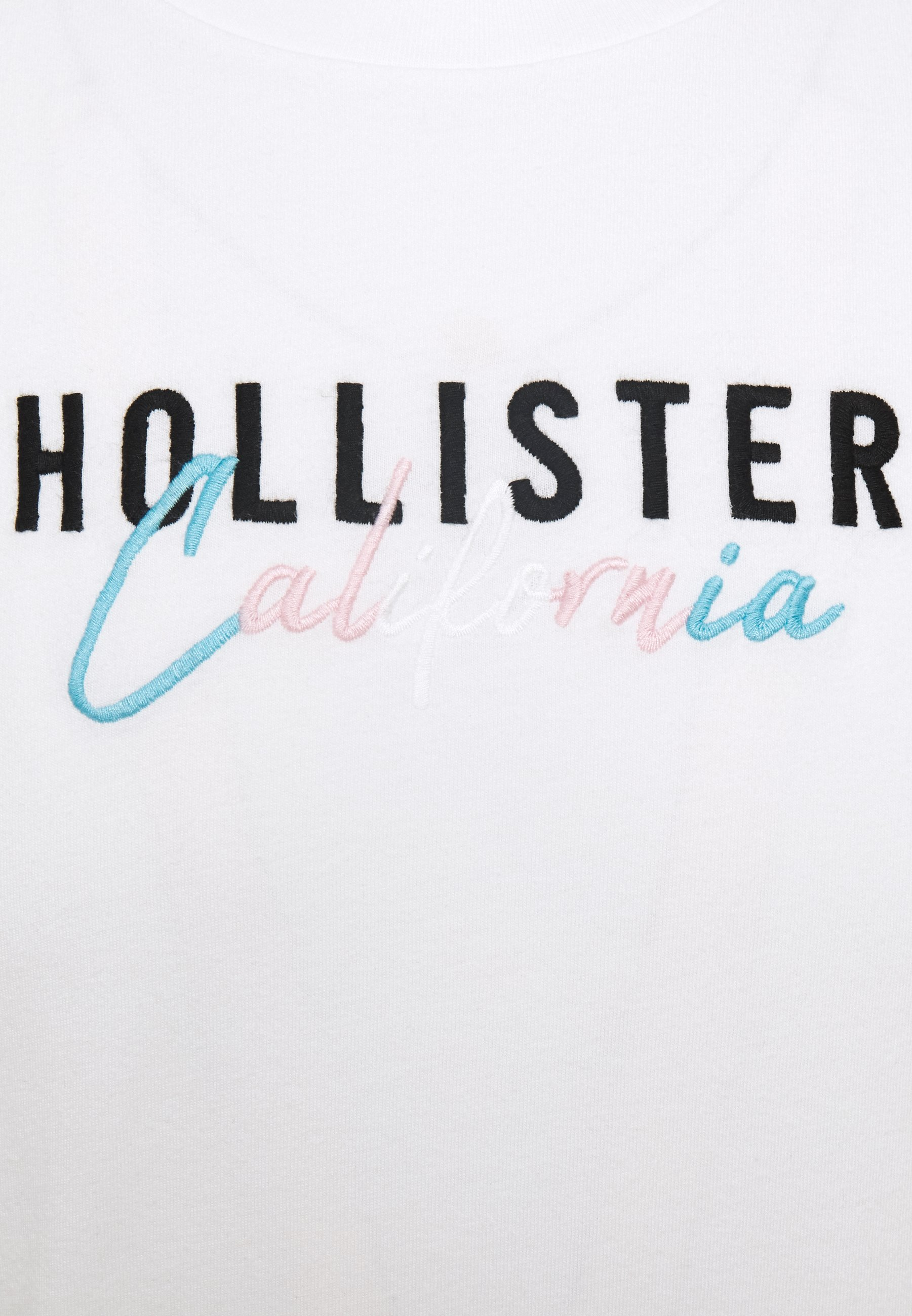 Hollister Co. PRIDE SCRIPT LOGO T shirt imprimé white