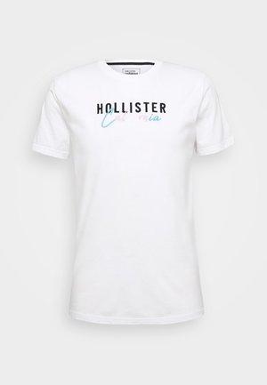 PRIDE SCRIPT LOGO - Print T-shirt - white solid