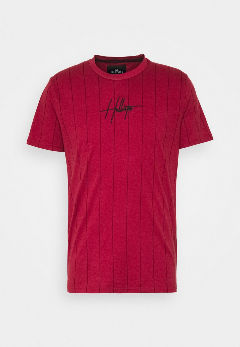 Hollister Co. - SCRIPT LOGO  - Camiseta estampada - red