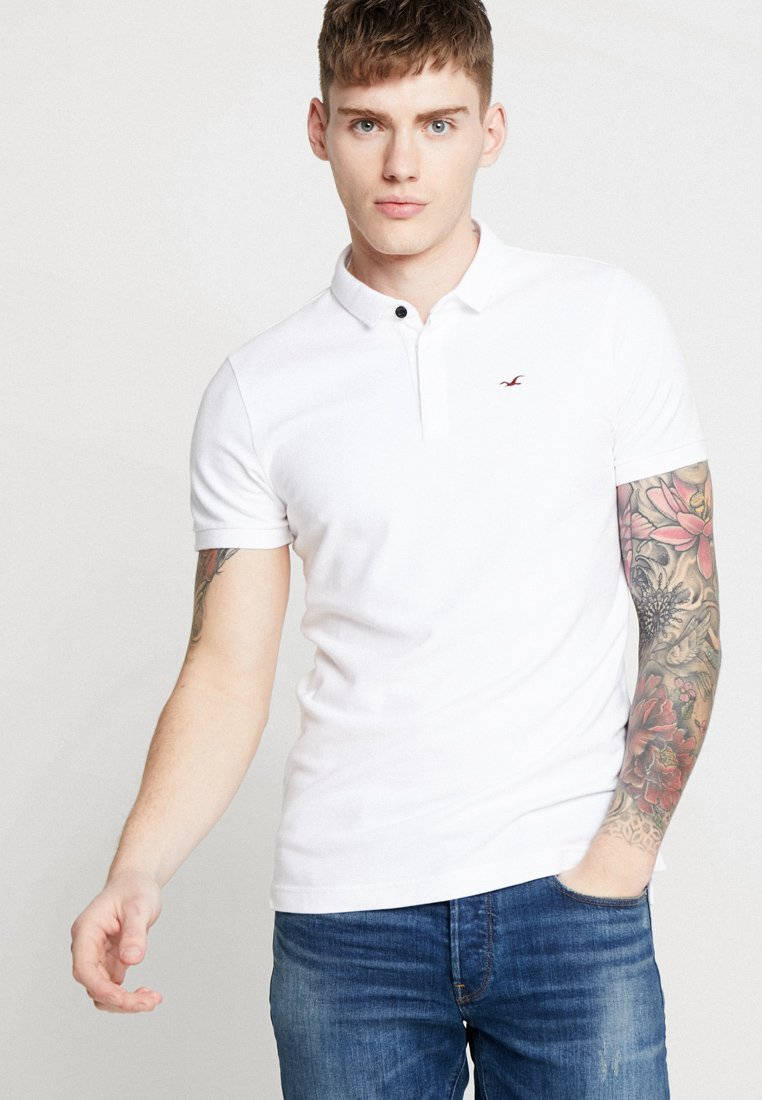 Hollister Co. - MODERN SLIM SOLID  - Polo - white