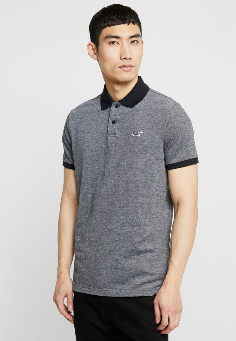 Hollister Co. - HERITAGE MUSCLE SOLID  - Poloshirt - textural black