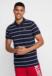 Hollister Co. - MODERN BLOCKING & STRIPE - Polo shirt - blue - 0